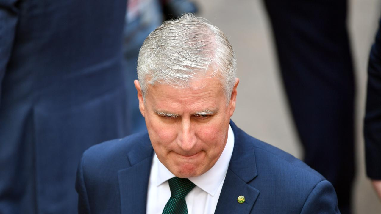 Deputy Prime Minister Michael McCormack at the Last Post Ceremony at the Australian War Memorial in Canberra, Monday, February 3, 2020. (AAP Image/Mick Tsikas) NO ARCHIVING