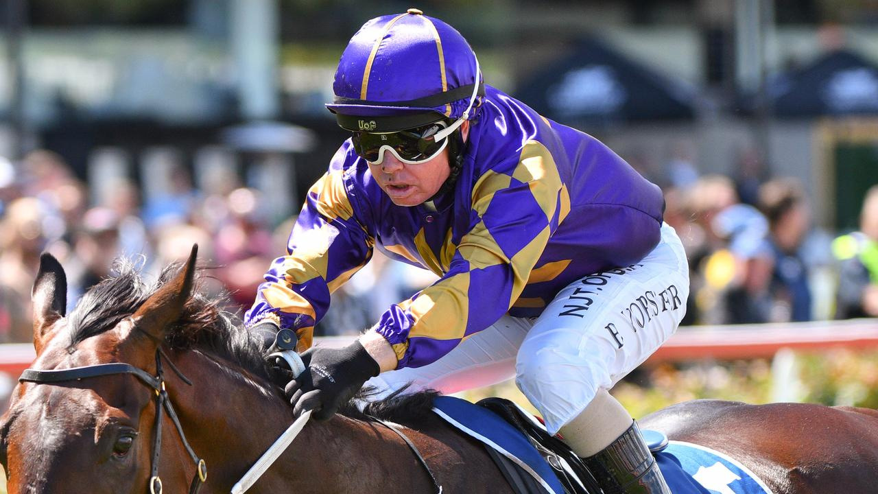 Barend Vorster suffered a broken collarbone after a fall in the Australia Stakes. Picture: AAP
