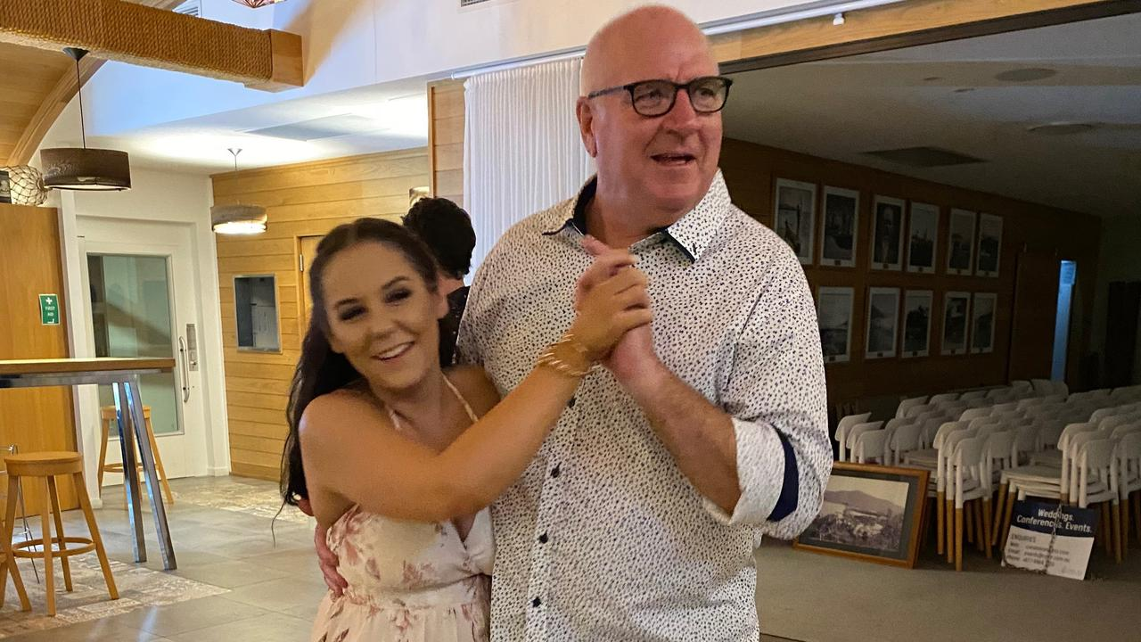 Codie Sullivan dances with dad John Sullivan at her