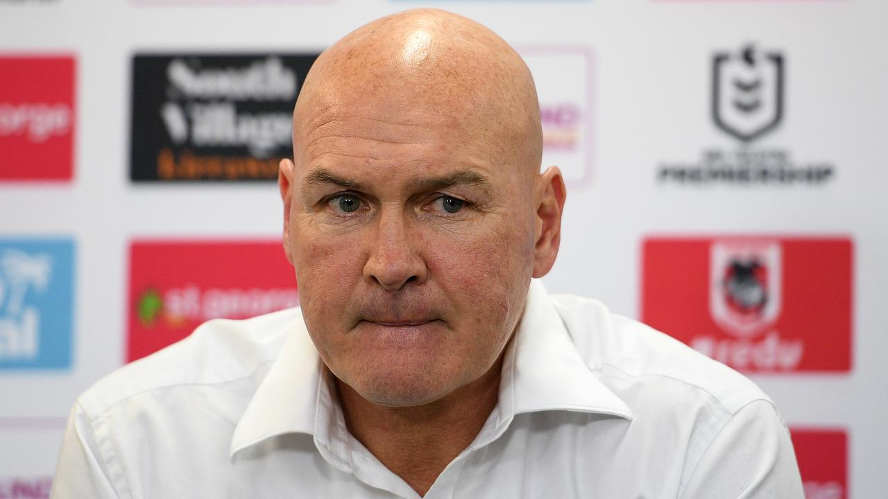 Dragons coach Paul McGregor. Picture: AAP