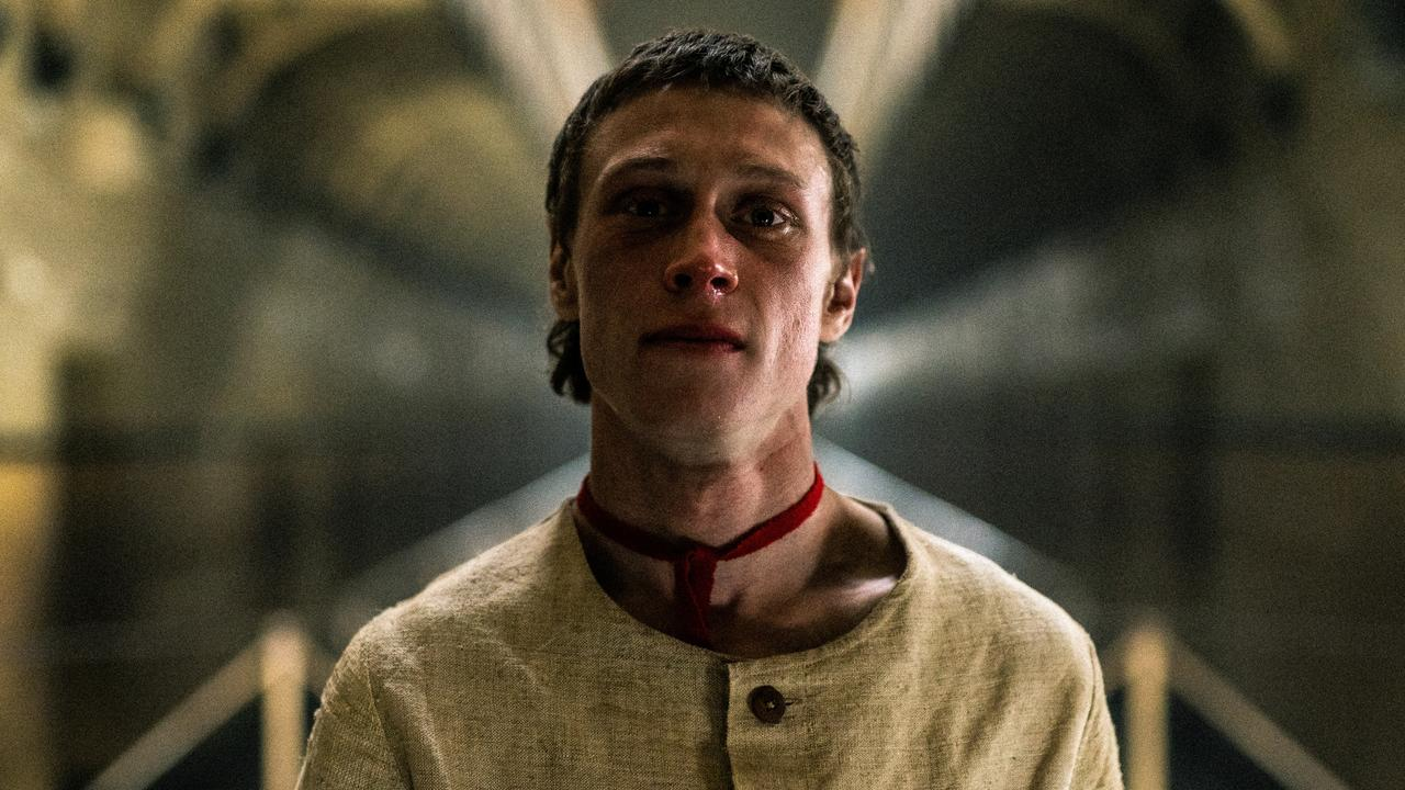 Actor George MacKay sported a mullet for his depiction of Ned Kelly in The True History of the Kelly Gang. Picture: Stan