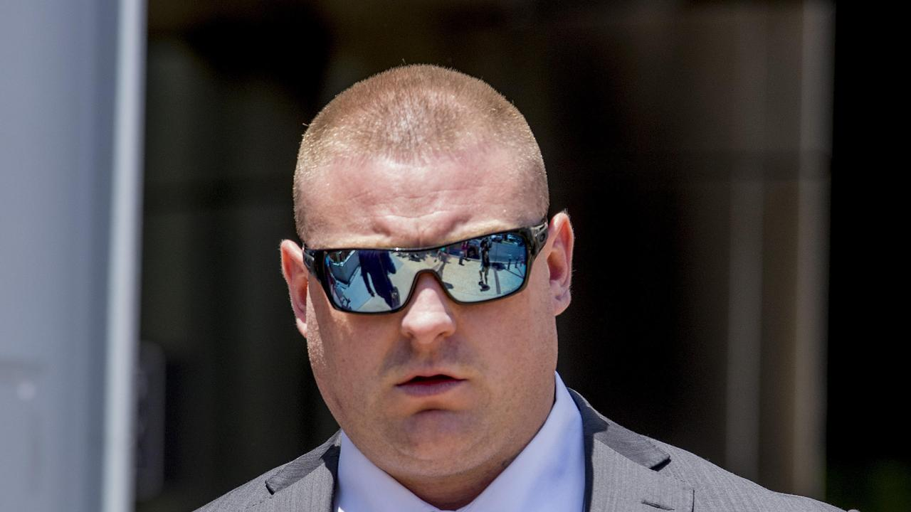 Steven Smith leaving the Southport Courthouse. Picture: Jerad Williams