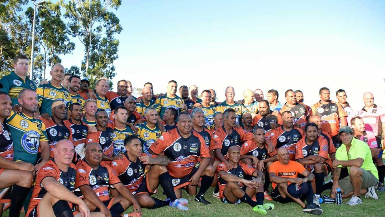 The 2019 Australian Legends defeated the Cherbourg Legends 38-34. (Picture: Matt Collins)