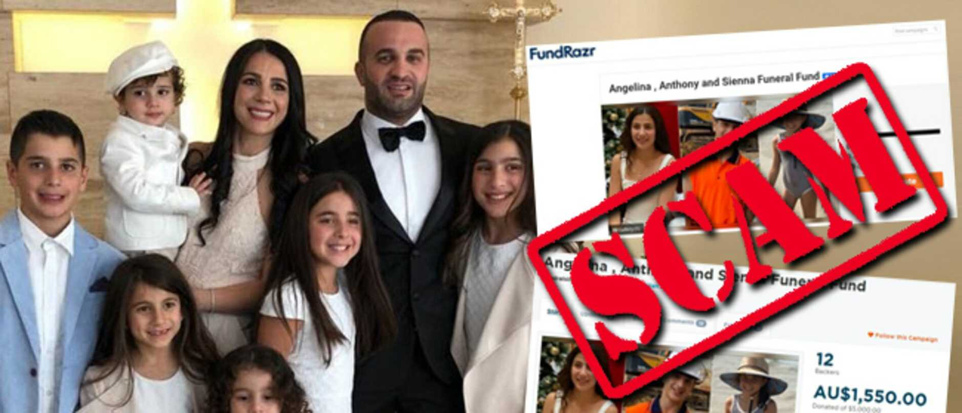 Two families still reeling from the deaths of four children in a car crash are now having to deal with heartless scammers trying to profit from the tragedy.