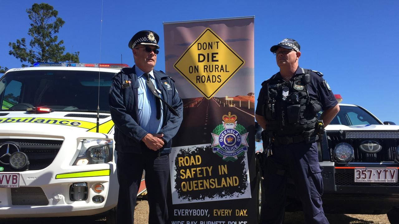 MONTO CRIME WRAP: Bundaberg's Acting Superintendent Pat Swindells and Monto's OIC Sgt Mick Bazzo.