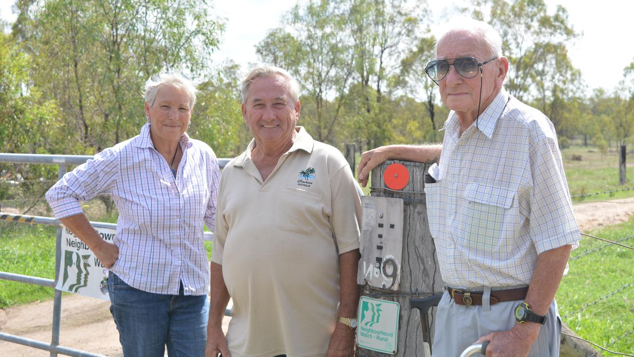 SAFETY FIRST: Robyn Hall, Ralph Gurowski and Ron Hall are eager to see the Regency Downs Neighbourhood Watch meetings return to what they once were. Photo: Ebony Graveur