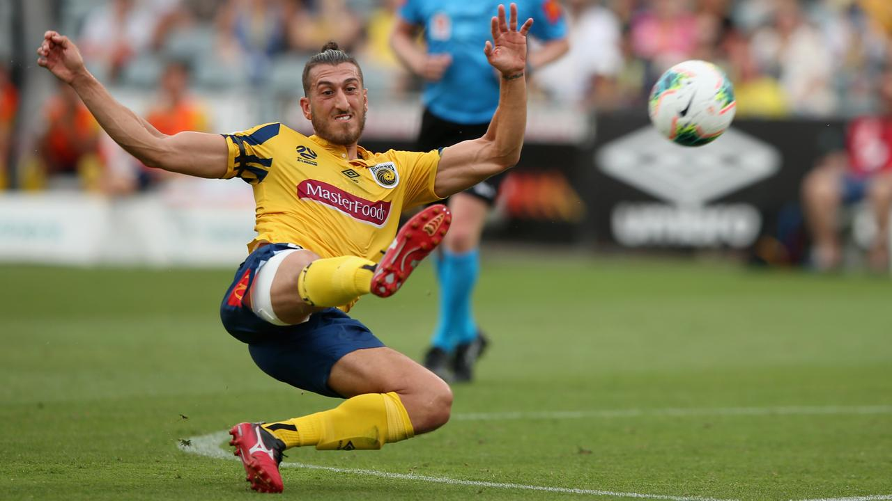 Giancarlo Gallifuoco in action for the Central Coast Mariners.