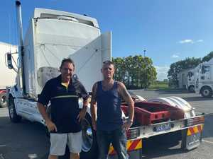 Senate inquiry chair visits truck stop to hear drivers' concerns