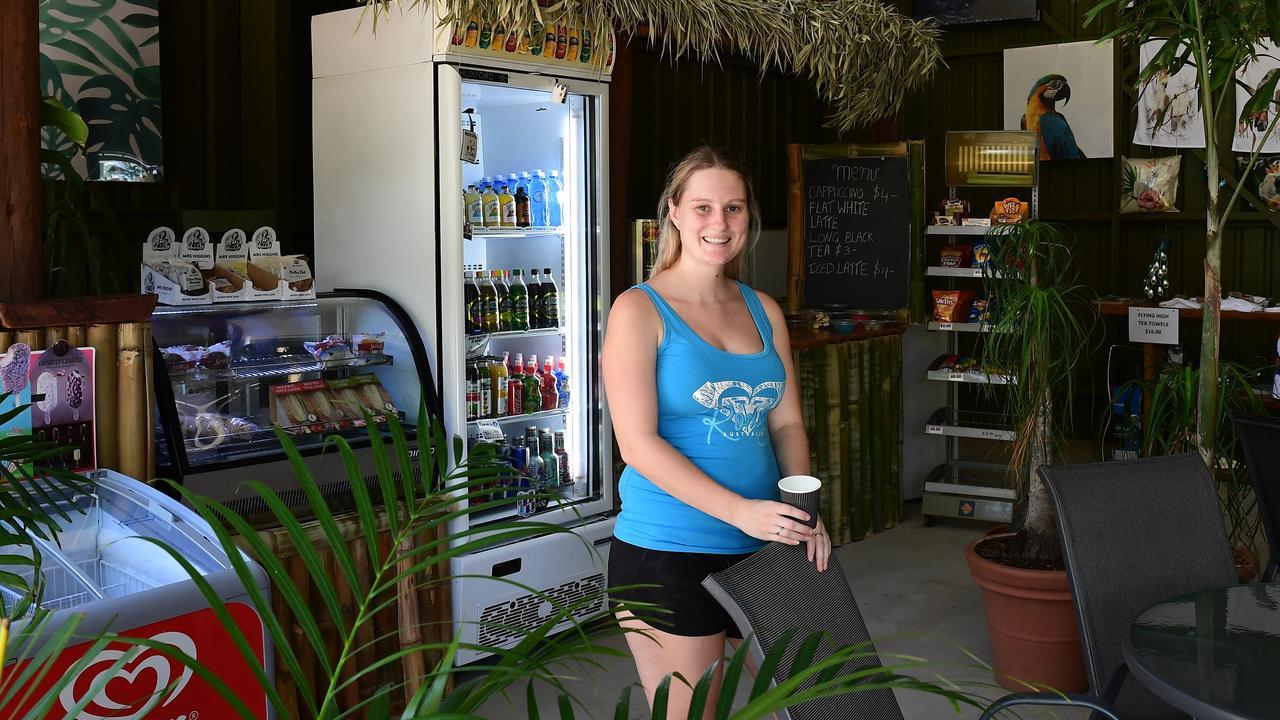 Flying High Bird Park's Taleah Dodds inside the new cafe area.