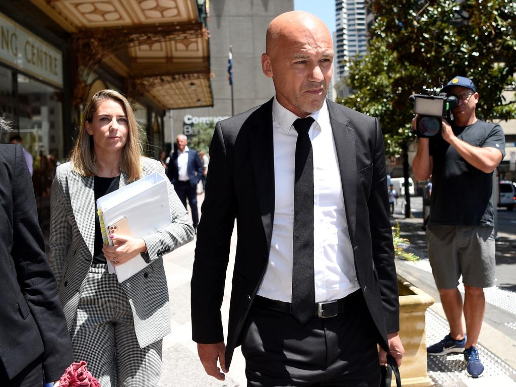 Former NSW Detective Gary Jubelin leaves Downing Centre Local Court in Sydney on Monday, February 3. Bianca De Marchi