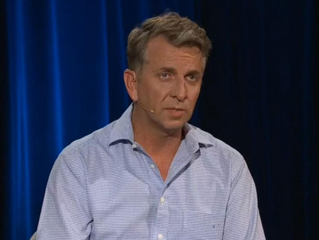 MP Andrew Constance appeared visibly upset during the show. Picture: Q&A/ABC