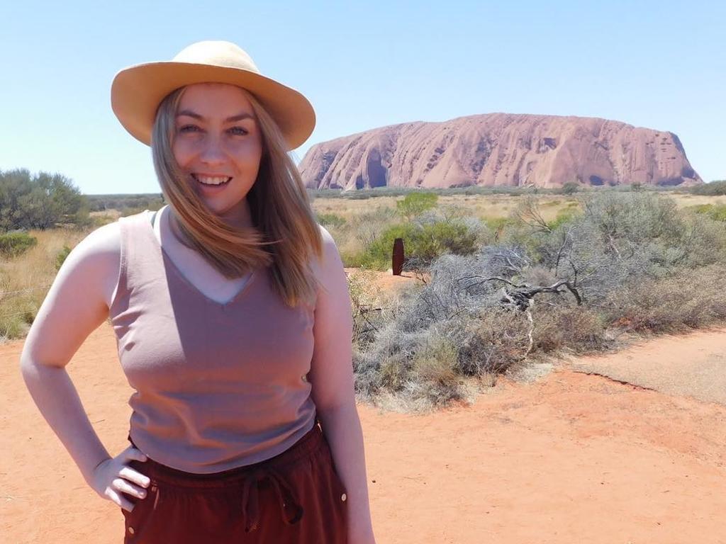 Kristen Larsen at Uluru