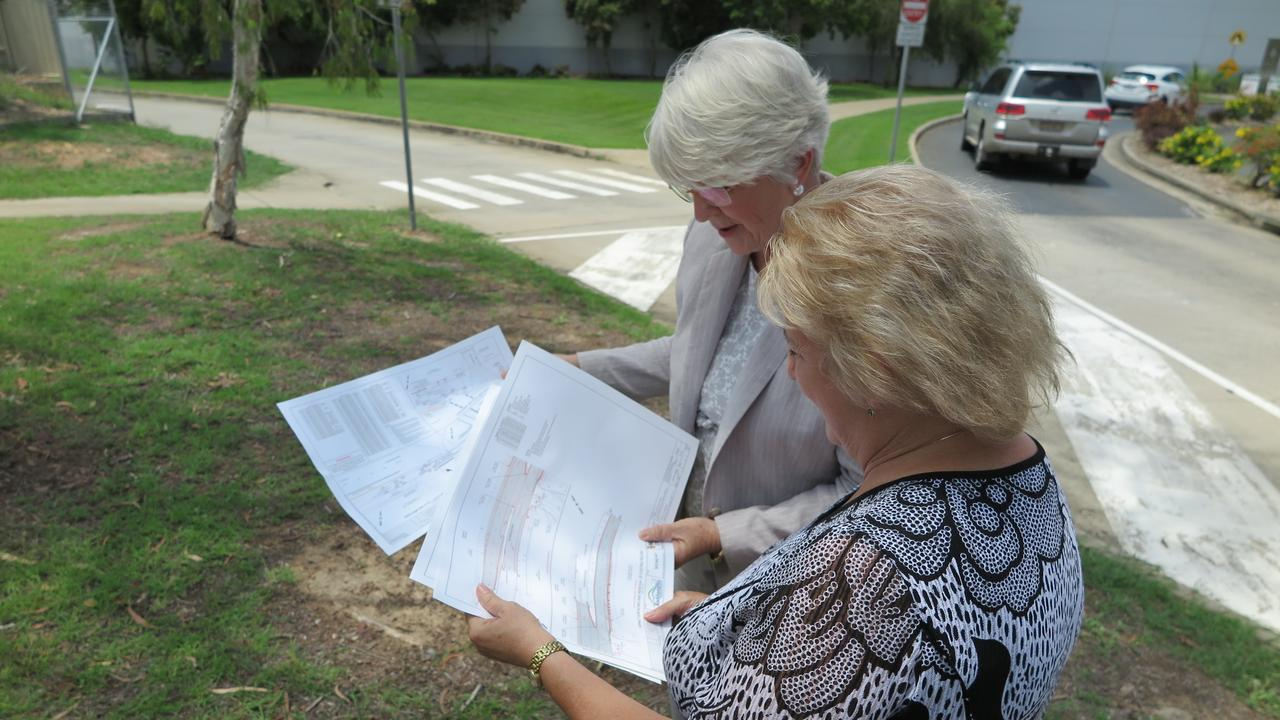 SAFETY UPGRADE: Rockhampton Region mayor Margaret Strelow and Capricornia MP Michelle Landry examine plans for the Redhill intersection upgrade.
