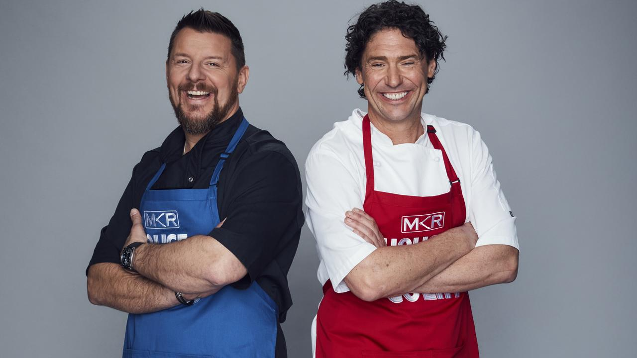 My Kitchen Rules judges Manu Feildel and Colin Fassnidge are facing off in the show's new rivals-themed season. Picture: Channel 7.