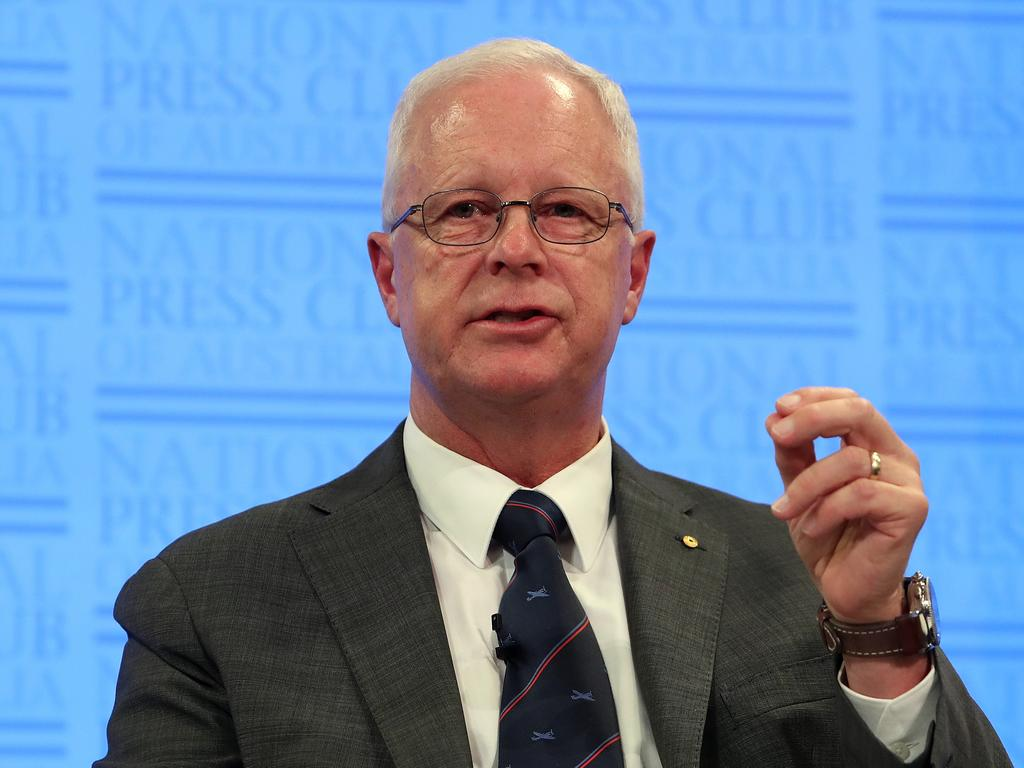 Former Chief of the Defence Force Air Chief Marshal Mark Binskin at the National Press Club Canberra. Picture Kym Smith