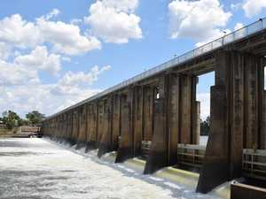 Barrage gates open as it reaches 100 per cent capacity