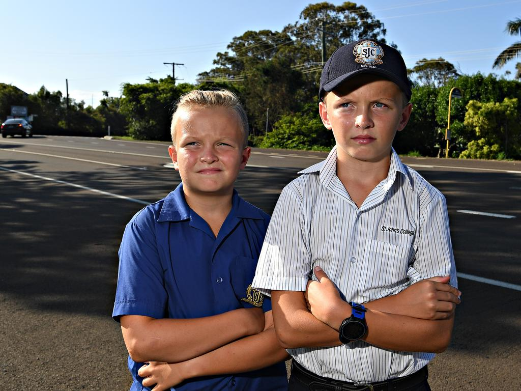 Zak Hammond, 10, and his brother Jake Hammond, 11, were reduced to tears when asked to change to a different bus on their way home from school.