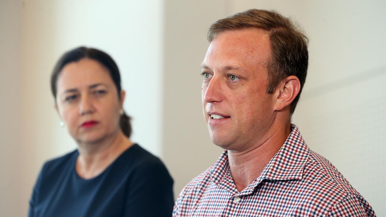Queensland Premier Annastacia Palaszczuk and Health Minister Dr Steven Miles MP AAP Image/Richard Gosling