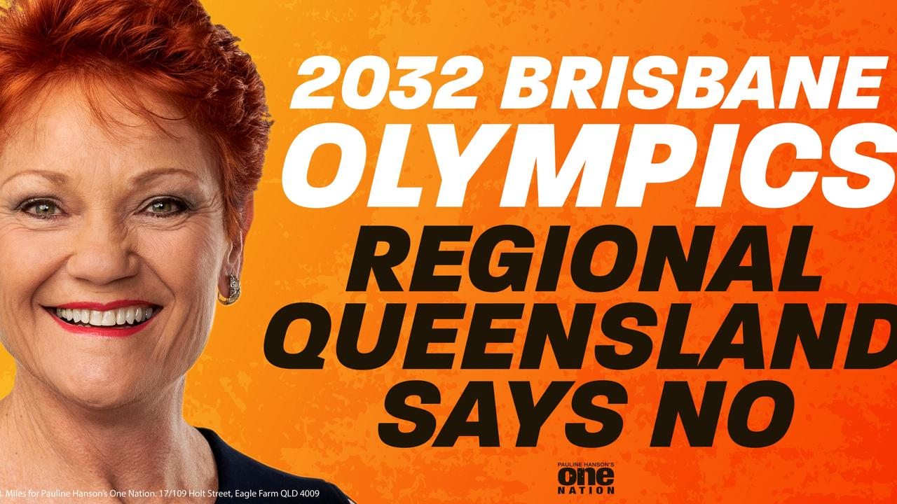 Pauline Hanson has made her feelings on the Olympics very clear.