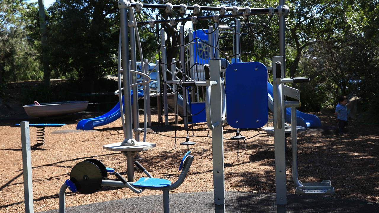 GET HEALTHY: Newly installed fitness equipment at Pottsville will be ready to use later this month. Picture: AAP IMAGE by Damian Shaw.