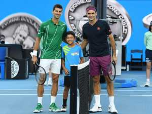 Tennis star's brush with royalty at Aus Open