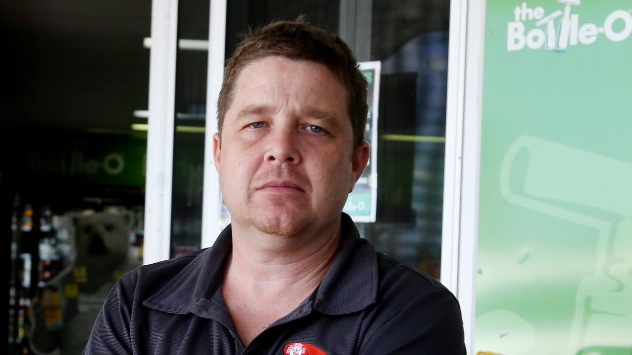 Red Beret Group retail manager Dave Harris at the Earlvillage The Bottlo-O shop that is shutting down for good due to a spate in theft and an alleged attack of a young staff member. PICTURE: STEWART MCLEAN