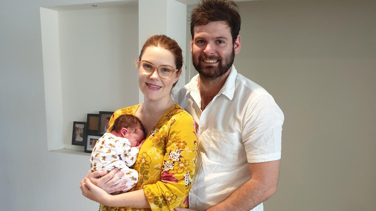 BABY BOWEN: Emily and Anthony Hart with newly-born Darcy Hart. Emily has welcomed the announcement of a new rural maternity planning tool which may bring birthing services back to Bowen.