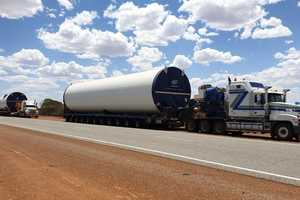COMPLEX HAUL: The move comprised of eight different truck and trailer combinations carrying 78 individual loads a distance of 650 kilometres.