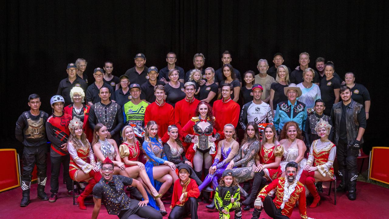 Moscow circus group shot.