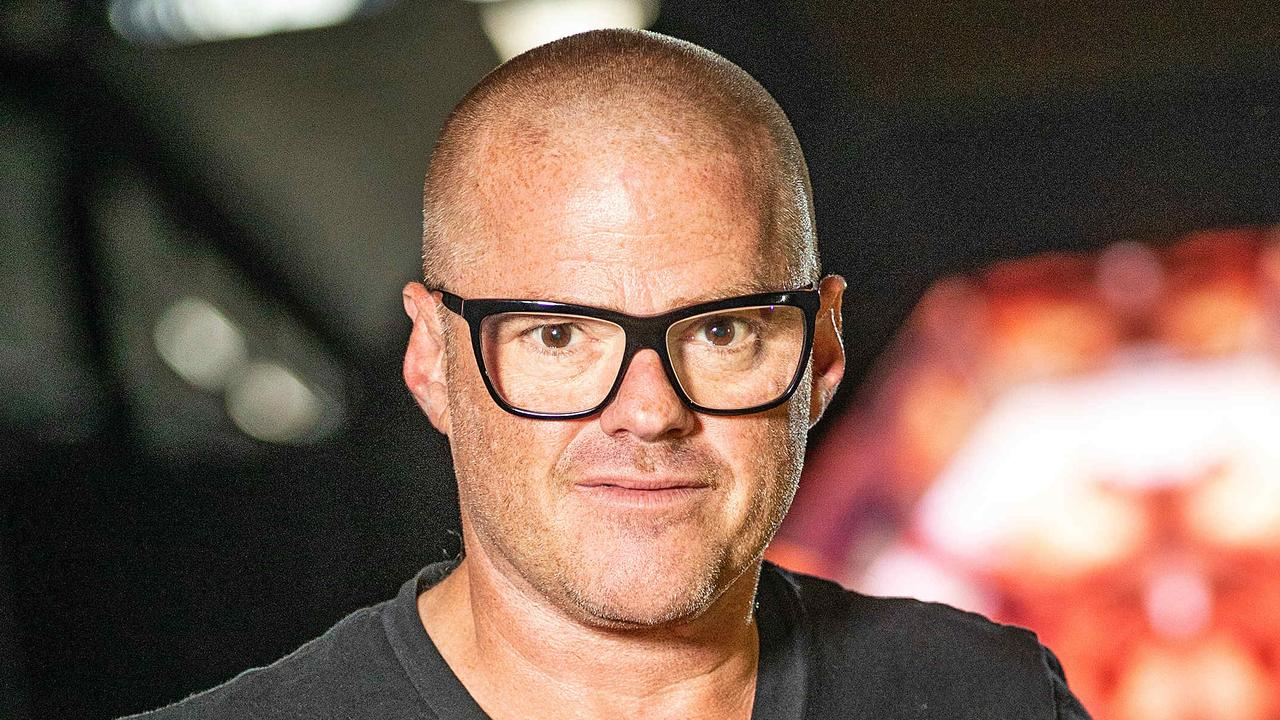 Heston Blumenthal pictured at Dinner By Heston at Crown. Picture: Mark Stewart