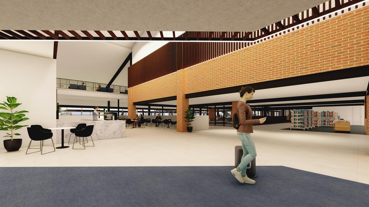 An artist's impression of the Rockhampton Airport redesign.