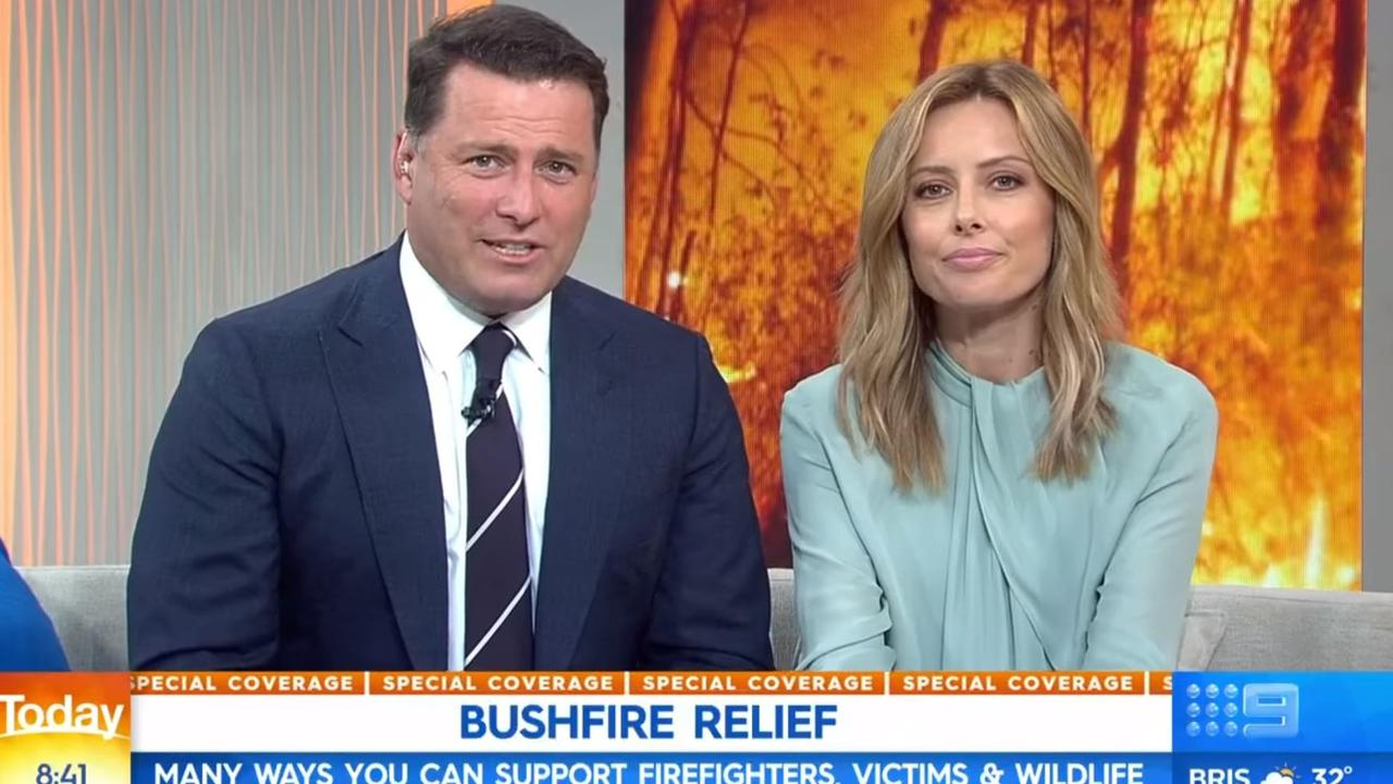 Karl Stefanovic and Allison Langdon's first Today Show of 2020. Picture: Channel 9