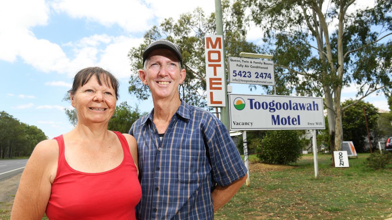 Toogoolawah Motel owners Sue and Stephen Solomon.