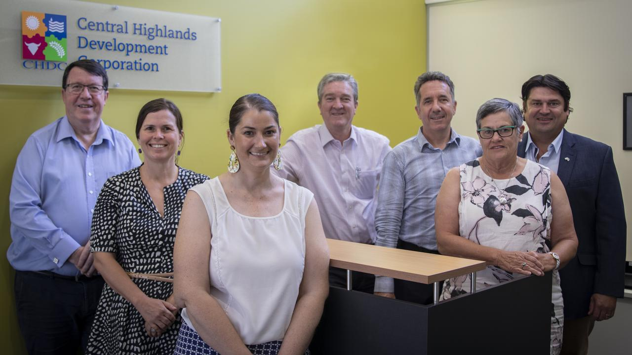 NEW BOARD: The newly-expanded CHDC Board consists of Paul Lucas, Megan Daniels, Bronwyn Roberts, Kerry Hayes, Ciarán Hallinan, Christine Rolfe, and Scott Mason.