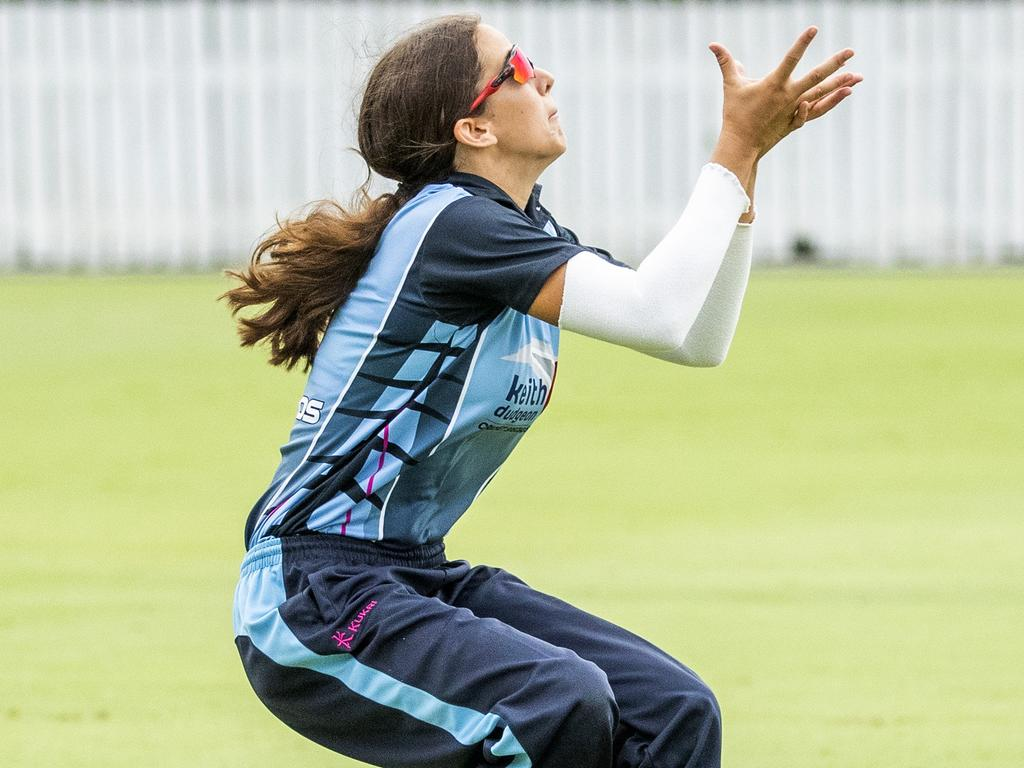 IN HER GRASP: Charli Knott continues to go from strength to strength as her fledgling cricket career takes off.