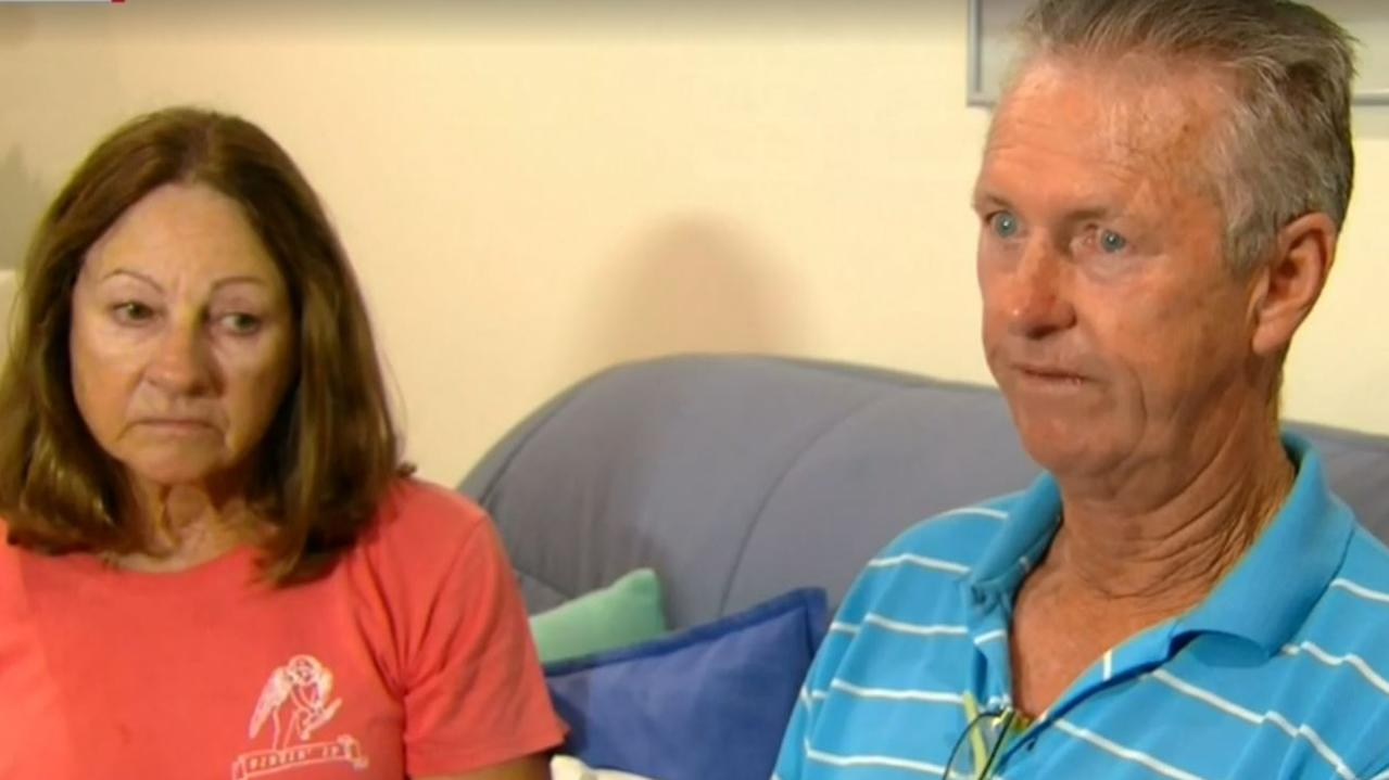 Samuel Davidson's parents spoke out yesterday. Picture: 9 News