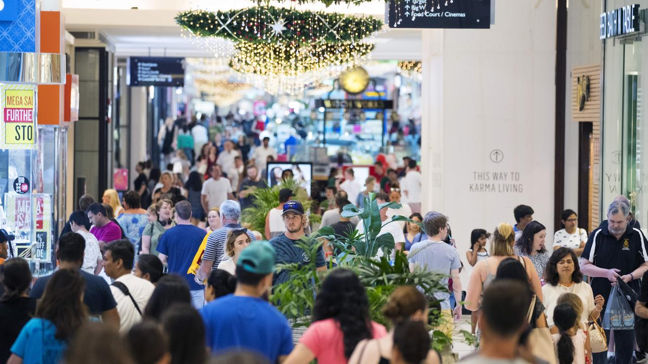 File picture: Crowds pack into Westfield Chermside to get their Christmas Shopping done.