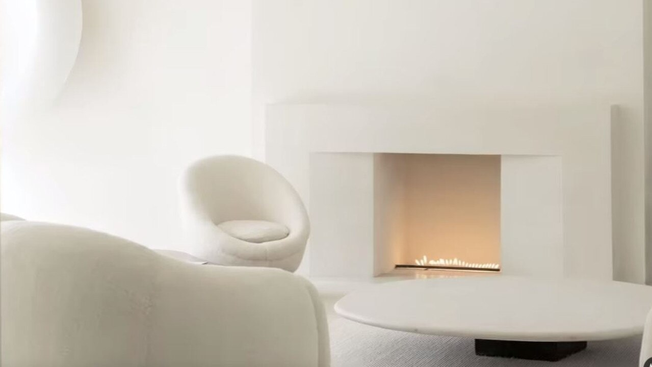 Even the flame in their fireplace is minimalist. Picture: YouTube.
