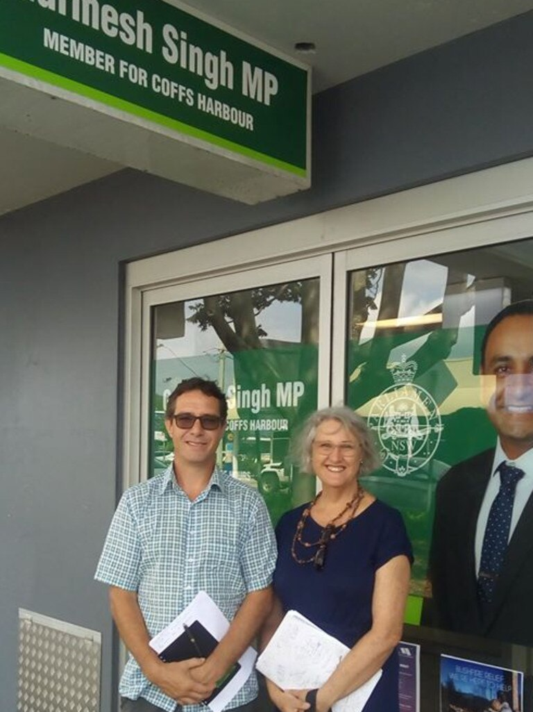 Jonathan Baggs-Green and Merryn Crocker from the Save Woolgoolga Dam group met with Coffs Harbour MP Gurmesh Singh to express their concerns over the deal.