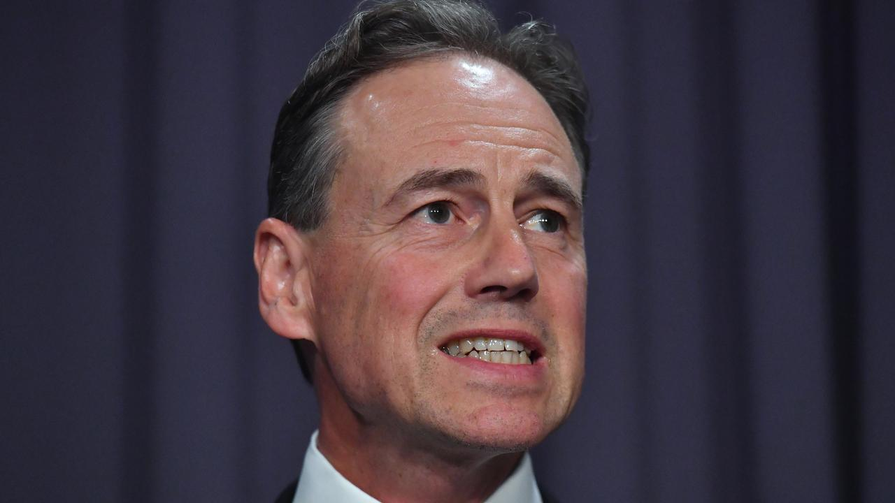Health Minister Greg Hunt says the China travel ban is more likely than not to be extended. Picture: AAP Image/Mick Tsikas