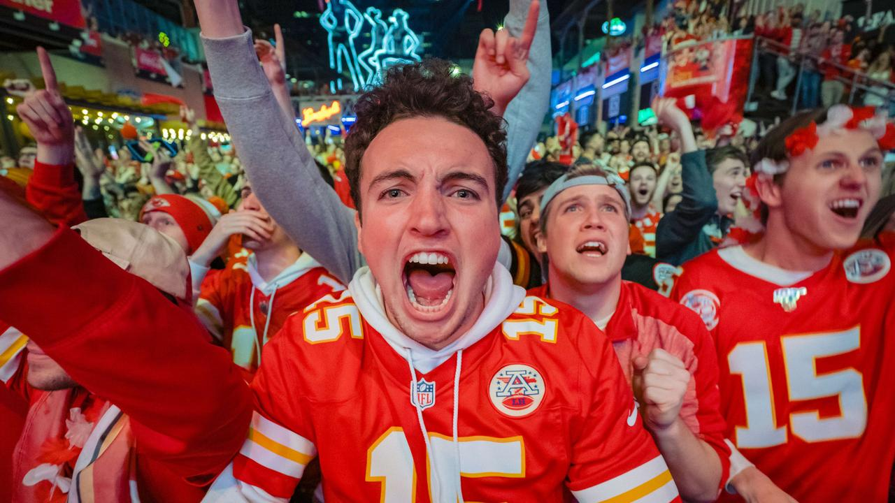 Kansas City Chiefs Fans Watch Super Bowl LIV Against The San Francisco 49ers