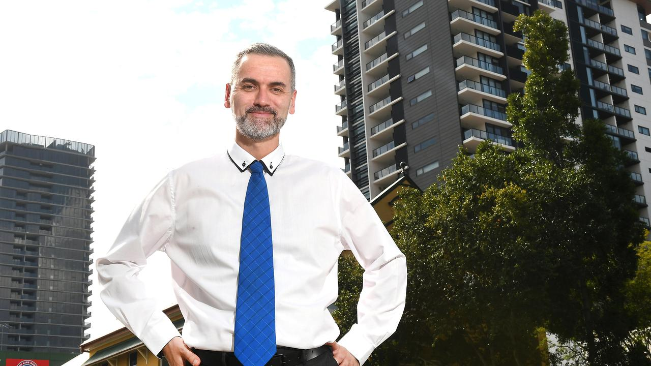 Chris Irons in South Brisbane. Picture: AAP/John Gass