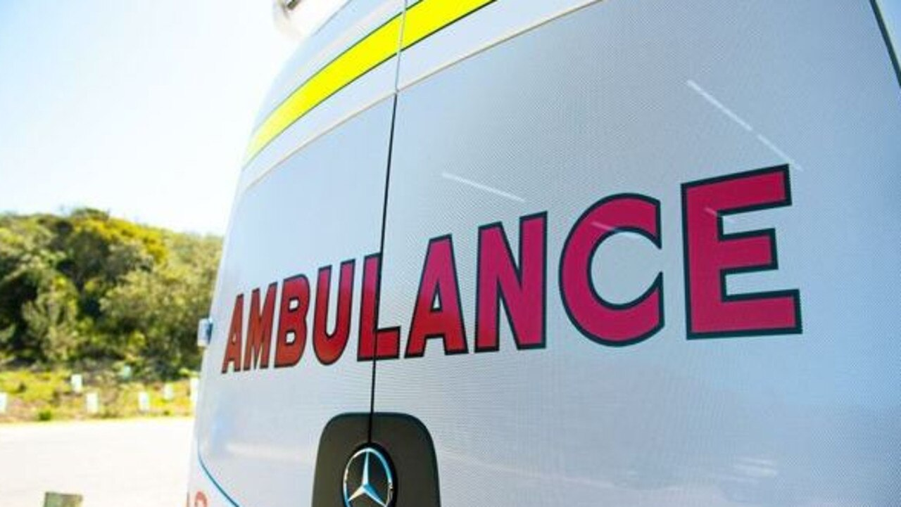 Paramedics respond to a van rollover at Eumundi.