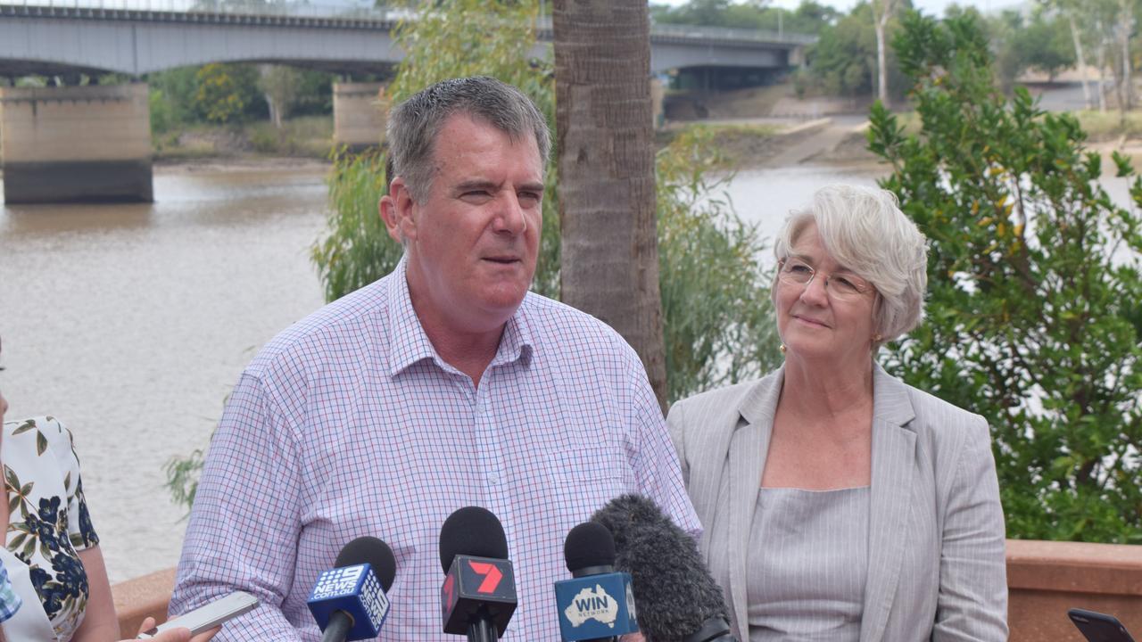 Minister for Agriculture Mark Furner with Rockhampton Region mayor Margaret Strelow.