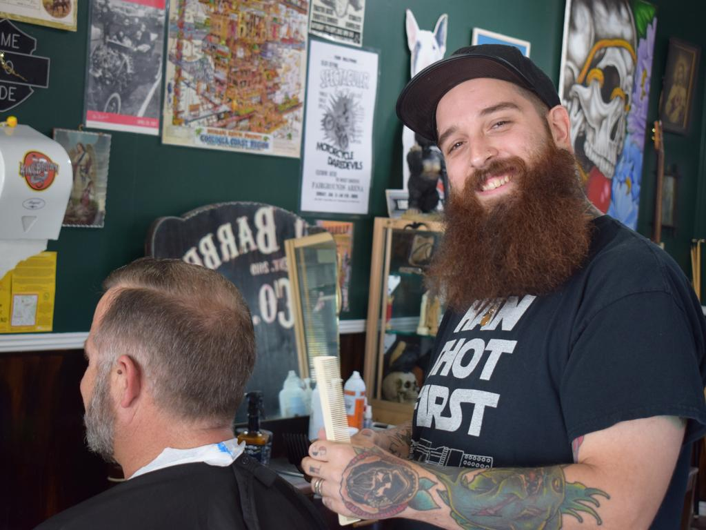 Barber Tomi Rooney is one half of the Loco Barbers Co team.