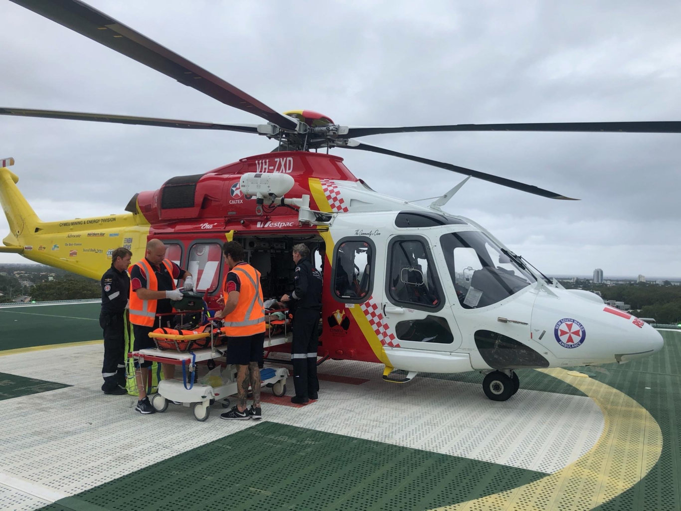 The Westpac Life Saver Rescue Helicopter was tasked to a cruise ship off Ballina.