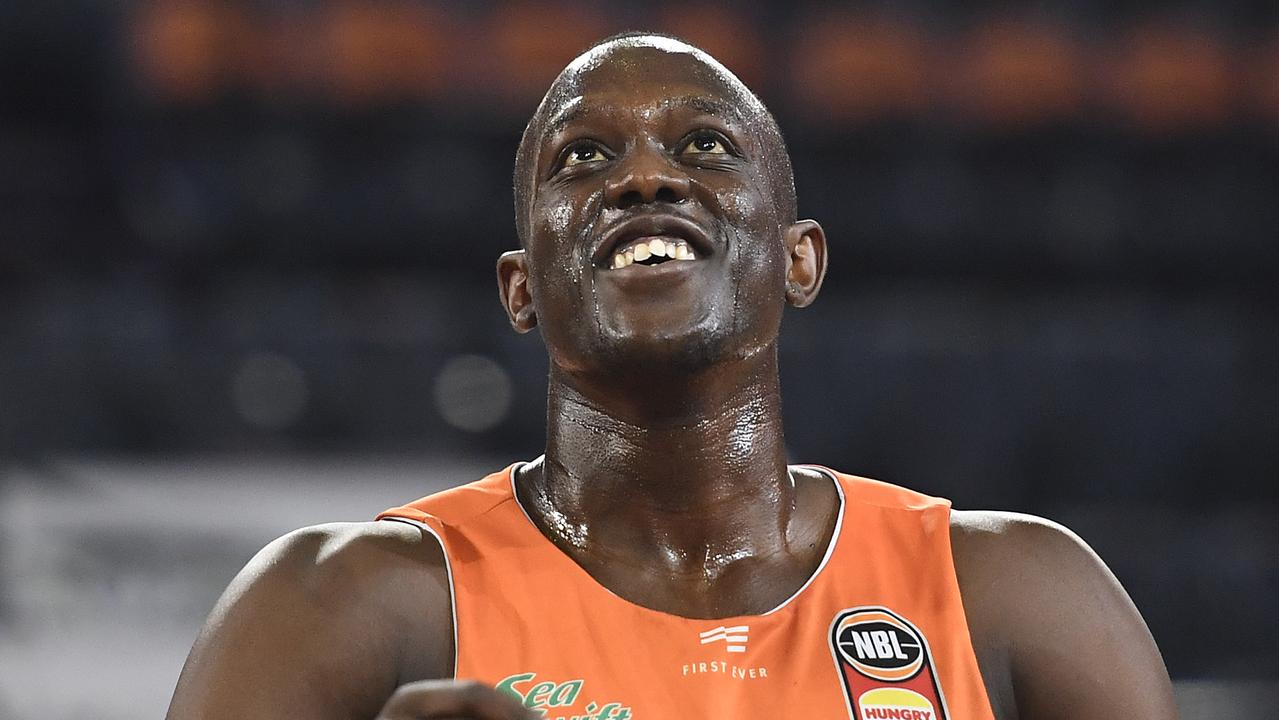 CAIRNS, AUSTRALIA – JANUARY 18: Kouat Noi of the Taipans warms up before the start of the round 16 NBL match between the Cairns Taipans and the Adelaide 36ers at the Cairns Convention Centre on January 18, 2020 in Cairns, Australia. (Photo by Ian Hitchcock/Getty Images)