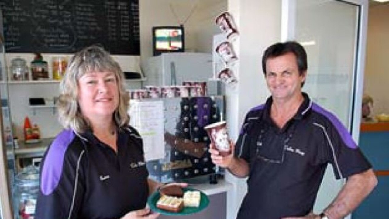 Karen and Bill Zahner when they first took over the Cooloola Specialist Coffee Shop in 2011.