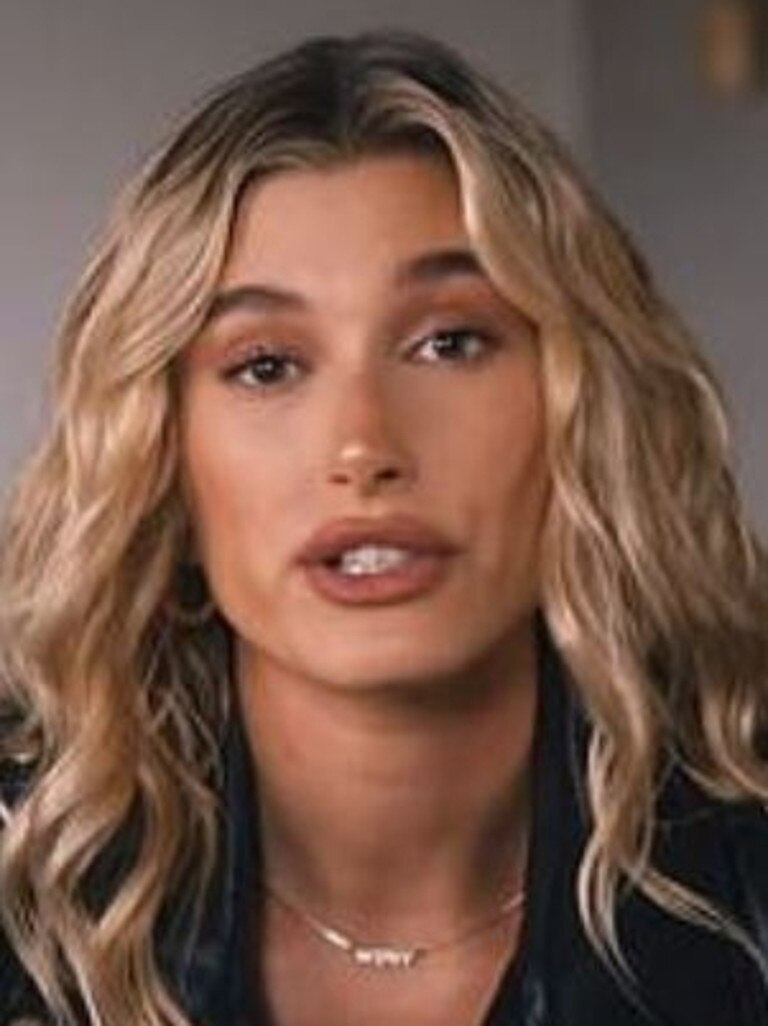 "Hailey Bieber has said her husband was ""so sick"". Picture: YouTube"