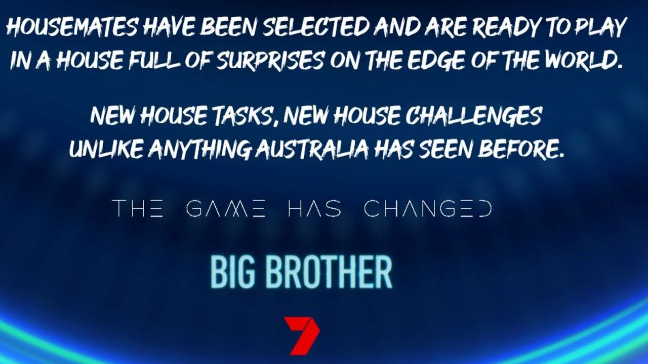 The 2020 season of Big Brother promises to impress. Picture: Channel 7.